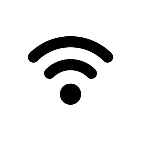 Black Wi-Fi wireless internet network symbol icon isolated on white background. Vector Illustration Illusztráció
