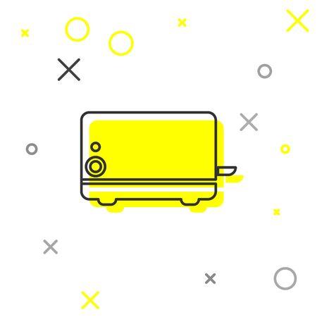 Grey Toaster line icon isolated on white background. Vector Illustration Illustration