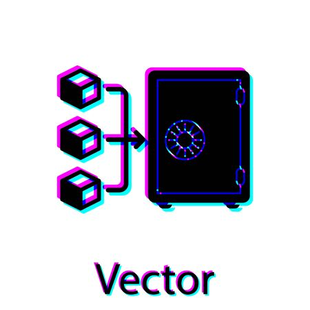 Black Proof of stake icon isolated on white background. Cryptocurrency economy and finance collection. Vector Illustration