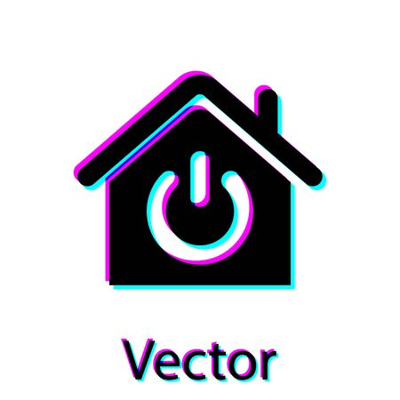 Black Smart home icon isolated on white background. Remote control. Vector Illustration