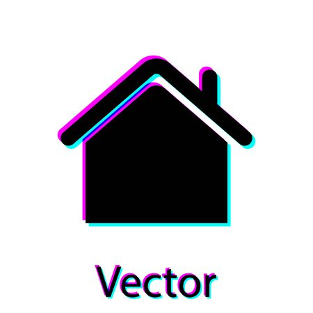Black House icon isolated on white background. Home symbol. Vector Illustration