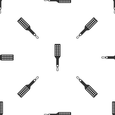 Grey Spanking paddle icon isolated seamless pattern on white background. Fetish accessory. Sex toy for adult. Vector Illustration