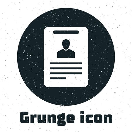 Grunge Identification badge icon isolated on white background. It can be used for presentation, identity of the company, advertising. Vector Illustration