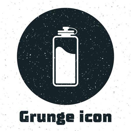 Grunge Sport bottle with water icon isolated on white background. Vector Illustration Vektorgrafik