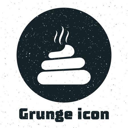 Grunge Shit icon isolated on white background. Vector Illustration Ilustração