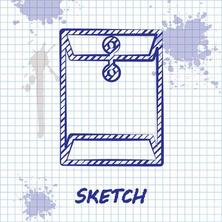 Sketch line Envelope icon isolated on white background. Email message letter symbol. Vector Illustration Ilustração