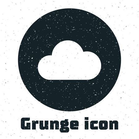 Grunge Music streaming service icon isolated on white background. Sound cloud computing, online media streaming, online song, audio wave. Vector Illustration
