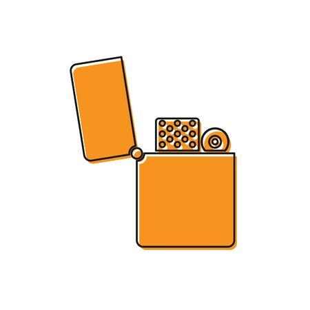 Orange Lighter icon isolated on white background. Vector Illustration