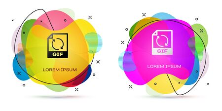 Color Gif File Document Download Gif Button Icon Isolated On