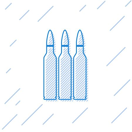 Blue line Bullet icon isolated on white background. Vector Illustration