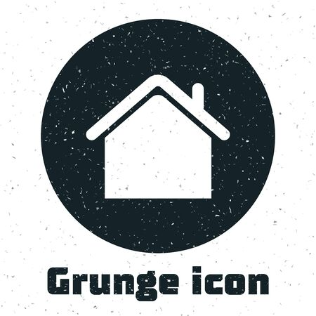 Grunge House icon isolated on white background. Home symbol. Vector Illustration