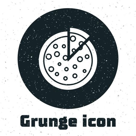Grunge Pizza icon isolated on white background. Vector Illustration Stockfoto - 130091107