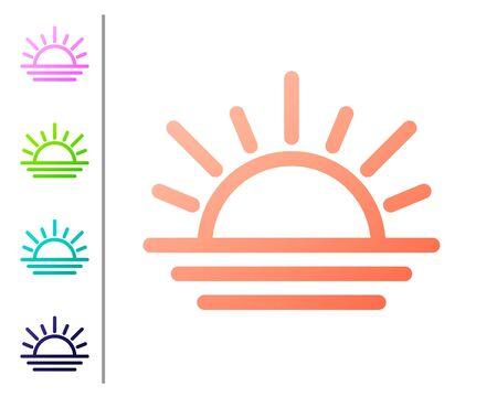 Coral Sunset icon isolated on white background. Set color icons. Vector Illustration Ilustracje wektorowe