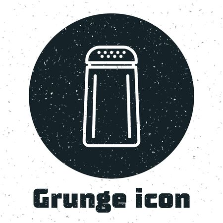 Grunge Salt and pepper icon isolated on white background. Cooking spices. Vector Illustration