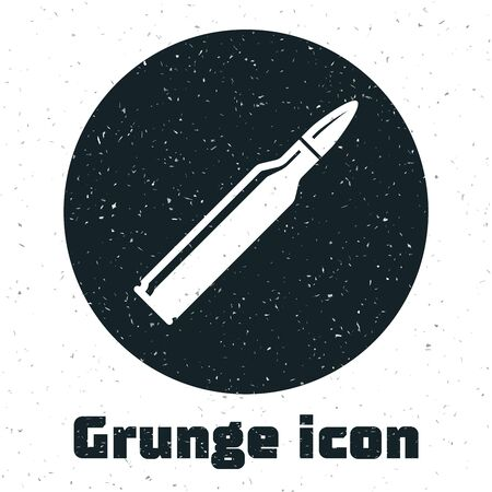 Grunge Bullet icon isolated on white background. Vector Illustration