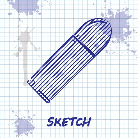 Sketch line Bullet icon isolated on white background. Vector Illustration