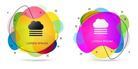 Color Fog and cloud icon isolated on white background. Abstract banner with liquid shapes. Vector Illustration