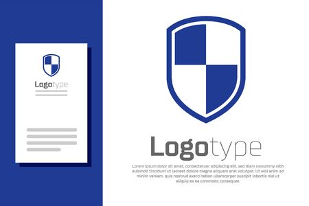 Blue Shield icon isolated on white background. Guard sign. Logo design template element. Vector Illustration