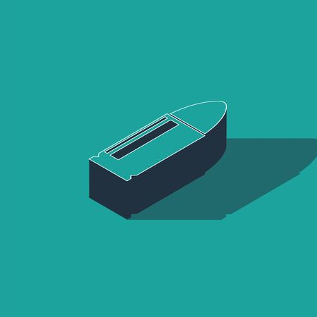 Isometric Bullet icon isolated on green background. Vector Illustration