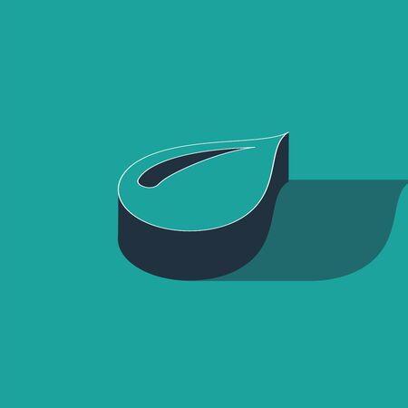 Isometric Water drop icon isolated on green background. Vector Illustration Illusztráció