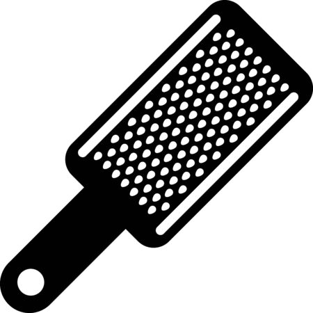 Black Grater icon isolated on white background. Kitchen symbol. Cooking utensil. Cutlery sign. Vector Illustration