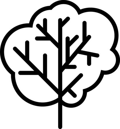 Black Tree icon isolated on white background. Forest symbol. Vector Illustration