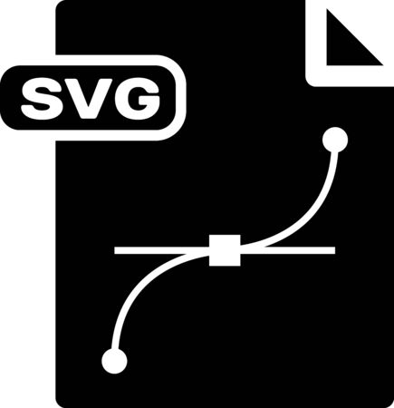 Black SVG file document. Download svg button icon isolated on white background. SVG file symbol. Vector Illustration  イラスト・ベクター素材