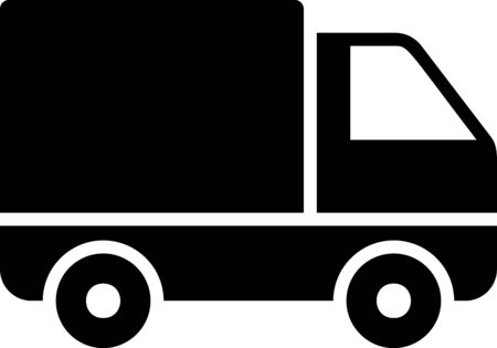 Black Delivery cargo truck vehicle icon isolated on white background. Vector Illustration Stock Vector - 133397862