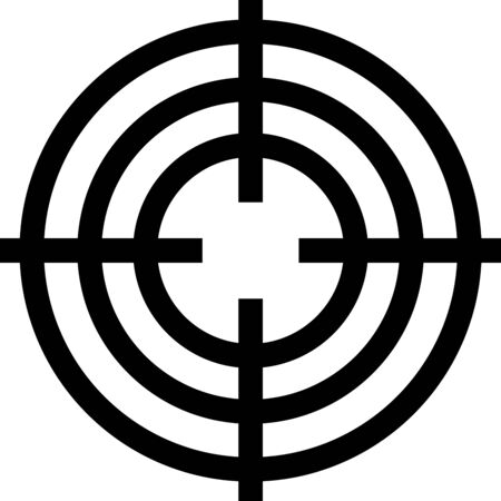 Black Target sport for shooting competition icon isolated on white background. Clean target with numbers for shooting range or shooting. Vector Illustration Standard-Bild - 133402885