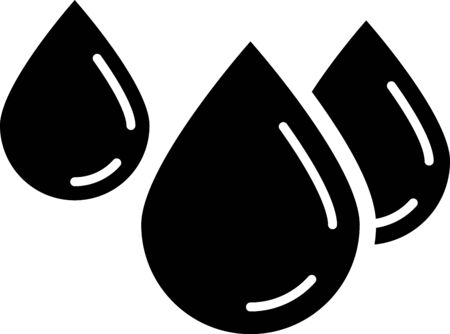 Black Water drop icon isolated on white background. Vector Illustration