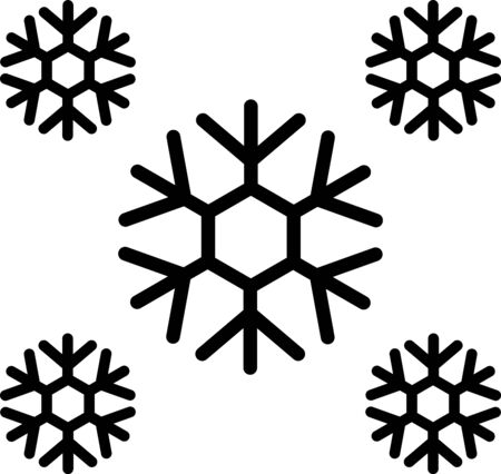 Black Snow icon isolated on white background. Vector Illustration
