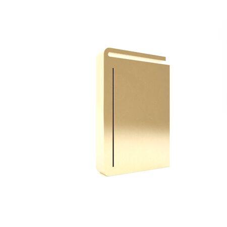 Gold Book icon isolated on white background. 3d illustration 3D render Reklamní fotografie