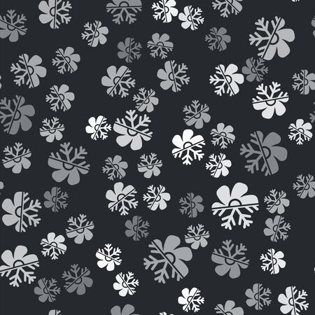 Grey Air conditioner icon isolated seamless pattern on black background. Vector Illustration
