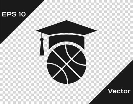 Grey Basketball training icon isolated on transparent background. Vector Illustration Иллюстрация