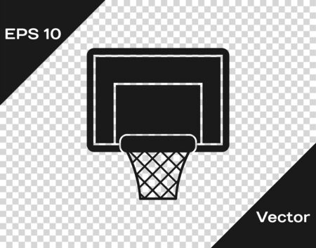 Grey Basketball backboard icon isolated on transparent background. Vector Illustration