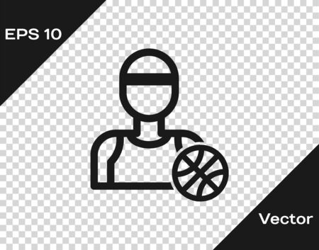 Grey Basketball player icon isolated on transparent background. Vector Illustration Иллюстрация