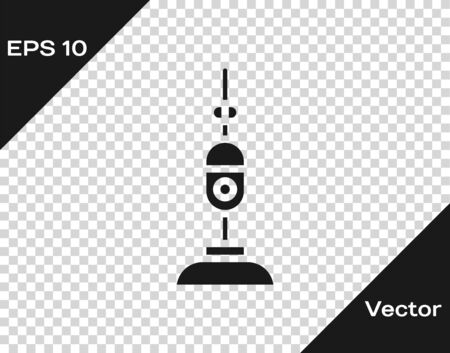 Grey Vacuum cleaner icon isolated on transparent background. Vector Illustration