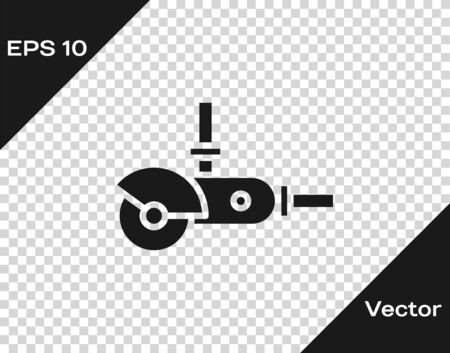 Grey Angle grinder icon isolated on transparent background. Vector Illustration