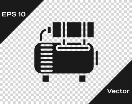 Grey Air compressor icon isolated on transparent background. Vector Illustration Иллюстрация