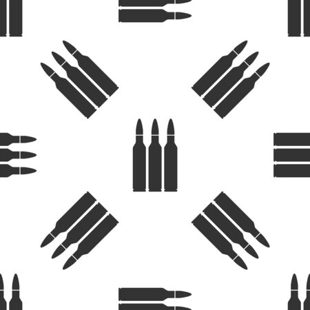 Grey Bullet icon isolated seamless pattern on white background. Vector Illustration