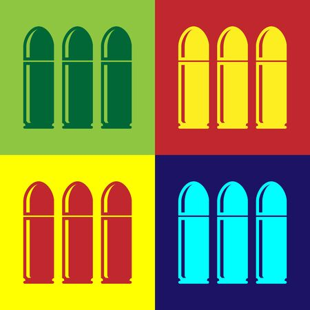 Color Bullet icon isolated on color background. Vector Illustration