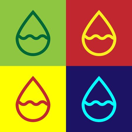 Color Water drop icon isolated on color background. Vector Illustration Archivio Fotografico - 133975403