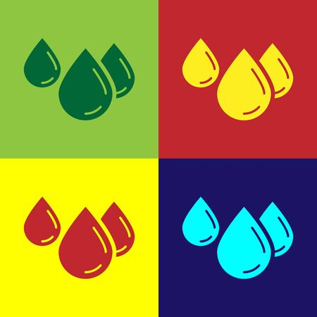 Color Water drop icon isolated on color background. Vector Illustration Archivio Fotografico - 133975405