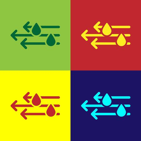 Color Wind and rain icon isolated on color background. Windy weather. Vector Illustration