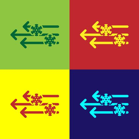 Color Wind and snow icon isolated on color background. Windy weather. Vector Illustration