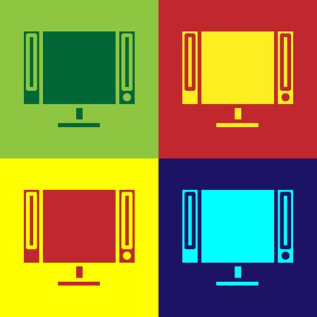 Color Smart Tv icon isolated on color background. Television sign. Vector Illustration Ilustracja