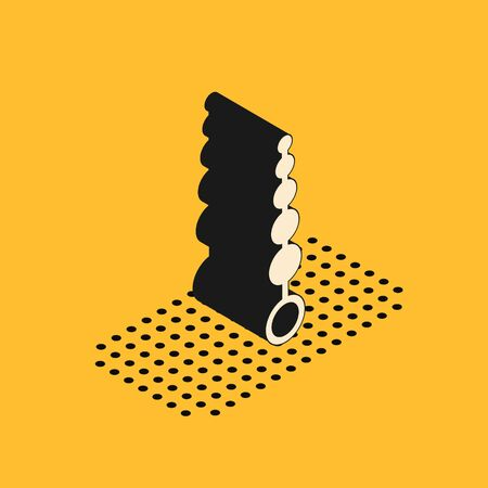 Isometric Anal beads icon isolated on yellow background. Anal balls sign. Fetish accessory. Sex toy for men and woman. Vector Illustration 일러스트