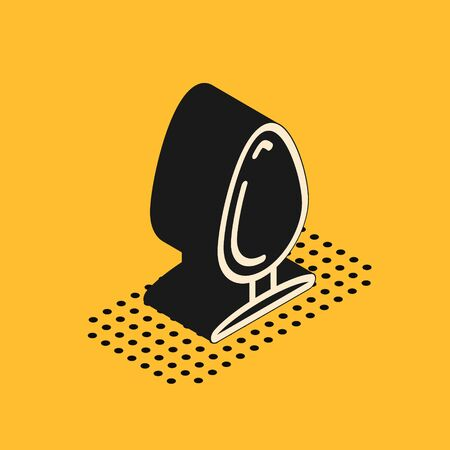 Isometric Anal plug icon isolated on yellow background. Butt plug sign. Fetish accessory. Sex toy for men and woman. Vector Illustration 스톡 콘텐츠 - 134628674
