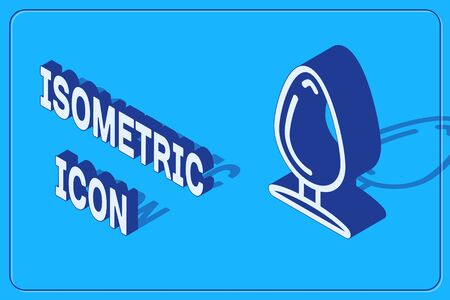 Isometric Anal plug icon isolated on blue background. Butt plug sign. Fetish accessory. Sex toy for men and woman. Vector Illustration Stock Illustratie