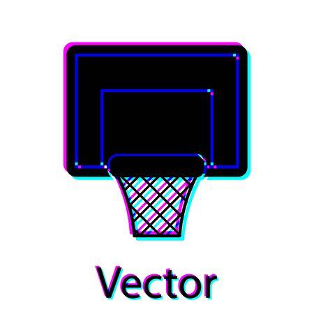 Black Basketball backboard icon isolated on white background. Vector Illustration
